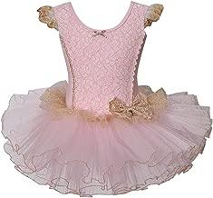 Meeyou Little Girls' Flower Ovelay Ballet Tutu Dress