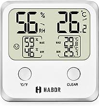 Habor 【Garantie de 18 Mois】 Thermomètre Hygromètre Numérique, Hygrometre Numerique d'interieur, Jauge de Thermometre sans Fil de Haute Precision