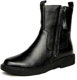 [HR株式会社] レディース ショートブーツ ローヒール フラット レトロ 防寒 滑り止め 歩きやすい サイズ22.5cm-25.0cm