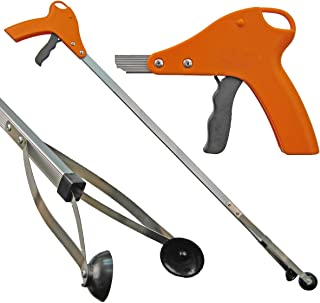 ArcMate 15202 Orang-U-Tongs Standard, Litter Trash Pick-Up Tool, Suction Cup Reacher Grabber for Indoor or Outdoor Use, Jaws Open 4.5