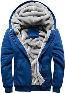 omniscient Mens Pullover Jackets Hooed Fleece Hoodies Sweatshirt Wool Warm Thick Coats