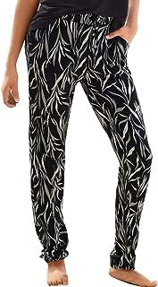 OVERDOES Women High Waist Sandy Beach Pants Printing Tightness Easy Trousers Long Pants