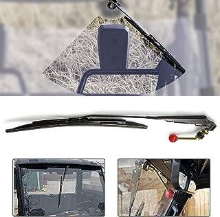 UTV Windshield Wiper Fits for Polaris Ranger RZR 900 1000 Can Am Kawasaki Honda Pioneer Golf Cart Hand Operated Manual Wiper
