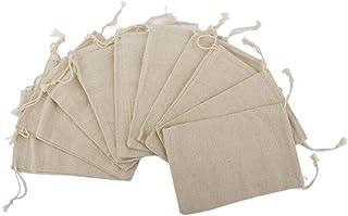 ULTNICE Bolsa de Organza Bolsas de Regalo Bolsitas de tela de saco bolsas de sacos de 15 * 20cm 10pcs