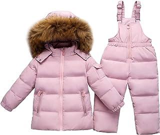 JiAmy Kids Winter Puffer Jacket and Snow Pants 2-Piece Snowsuit Skisuit Set
