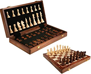 DUWIN Echiquier Bois, Echecs Jeu Echec, Jeu d echecs Chess Pièces Grand pour Adulte Enfants Pliable échec