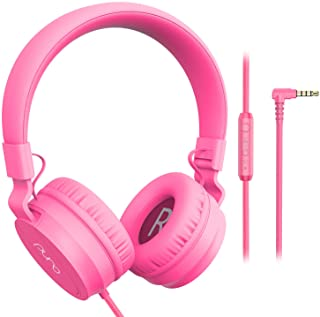 PuroBasic Volume Limiting Wired Headphones for Kids, Boys, Girls 2+ Foldable & Adjustable Headband w/Built-in Microphone, ...