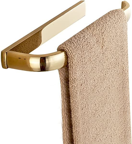 Leyde Solid Brass Towel Ring Lavatory Home Decor Clothes Hanger Towel Racks And Holders Space Saver Gold Finish