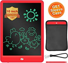 LCD Writing Tablet, ERUW 10 Inch Electronic Graphics Drawing Pads, Drawing Board eWriter, Digital Handwriting Doodle Pad with Memory Lock for Kids Home School Office,Pink