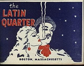 The Latin Quarter Restaurant Boston Massachusetts souvenir photo 1940s 1 man