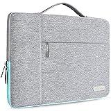 HSEOK Nuevo 15,4 Pulgadas Macbook Pro Maletin Portatil Funda Protectora para 14-15 Pulgadas Laptop Ultrabook Netbook, DELL XPS 15, Acer Aspire, Ausu VivoBook, Lenovo, Samsung y más, Gris