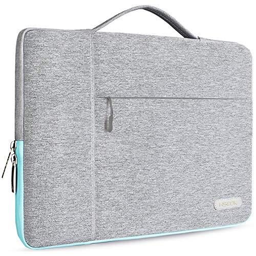 Hseok Maletin Portatil 14-15 Pulgadas Funda Protectora Delgada Impermeable para MacBook Pro 15' A1990 A1707, XPS 15 y 14'-15' Laptop Ultrabook Chromebook, DELL HP Lenovo Acer Ausu y más, Gris Claro