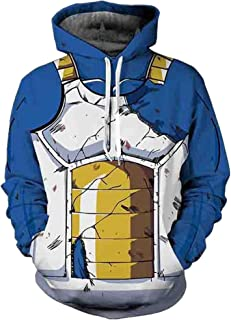 3D Print Long Sleeves Hoodie Sweatshirt Unisex Dragon Ball