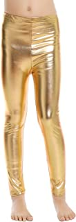 Little Girls' Metallic Color Shiny Stretch Leggings