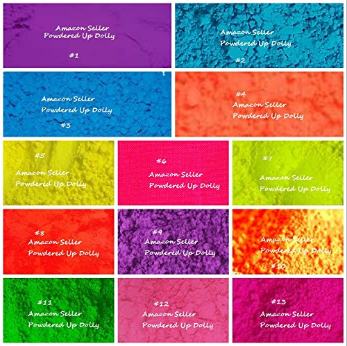26g Lot of 13-2g Each - All Matte NEON Soap Bath Bomb Cosmetic Craft Nail Pigment Colorant Powder