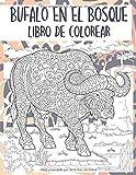 Búfalo en el bosque - Libro de colorear