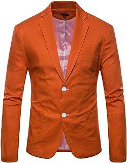 Men's Jacket Suit Solid Slim Color Button Blazer Modern Casual Fit Long Sleeves Lapel Blazer Coat Men Fashion