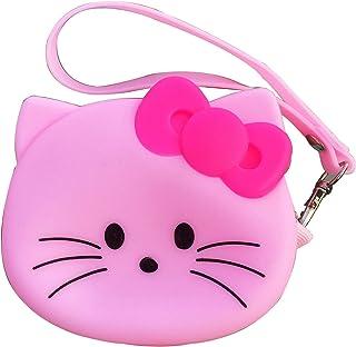 KC Lovely Cute Teddy Bear Multi-Function Mini Coin Purse Bag for Earphone Lipsticks Headphone Pendrive Keys (White)