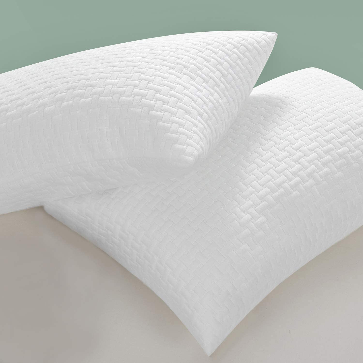 HOMBYS Never Go Flat Bamboo Shredded 2 Pack Pillows Popular Inventory cleanup selling sale brand Foam Memory