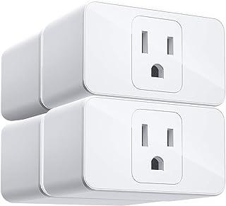 Meross فای هوشمند پلاگین کوتاه، الکسا و کنترل گوگل صدای، کنترل از راه دور برنامه، تایمر، فقط یک سوکت، بدون نیاز به هاب، 16A، FCC و ETL Complied (Smart Plug - 4 Pack)