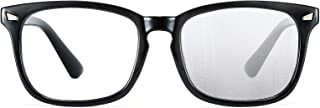 Cyxus Anti Fog Blue Light Glasses Square Eyeglasses Frame Filter UV400 Computer Gaming Eyewear Women Men (8682,crystal)
