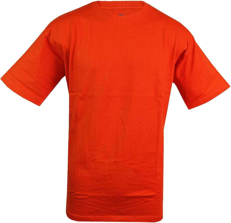 Jordan Craig Men's Cotton T-Shirt Solid Color Big & Tall Short Sleeve Top Orange