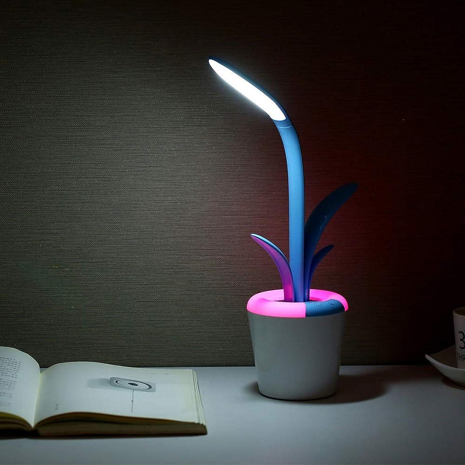 強調する感嘆符ベアリングサークルパーフェクト Cliviaテーブルランプソフトライトアイプロテクションデスクランプ雰囲気ランプUsbナイトライトクリエイティブLEDランプ ホーム (色 : Blue)
