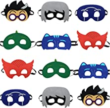STARKMA 12pc Cartonn Hero Party Favors Dress Up Costume Mask