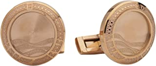 Diamond Moon Stainless Steel Cufflinks for Men, Stainless Steel - 1800541240406
