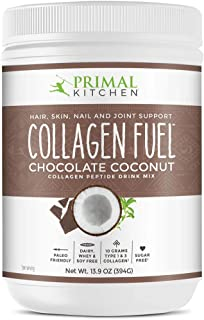 Primal Kitchen Collagen Peptide Drink Mix, Collagen Fuel, Chocolate Coconut, 13.9 oz (394 g)