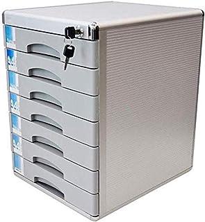 Armoire de bureau à 7 tiroirs avec serrure 400 x 36 x 30 mm en alliage d'aluminium