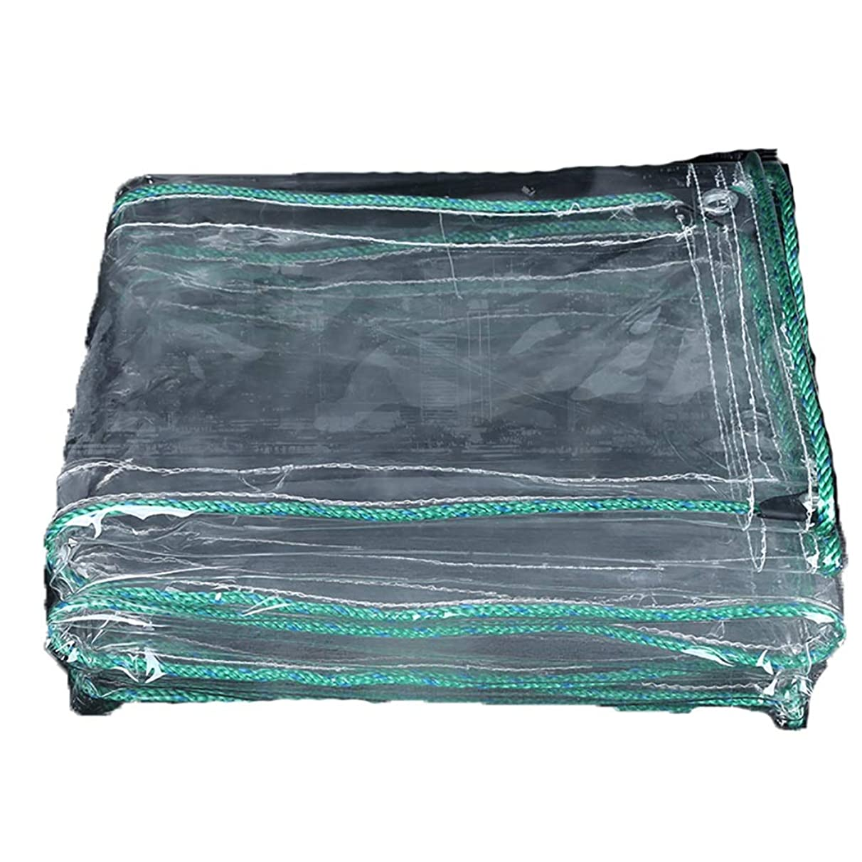 Sun Canopy Q Thickened Waterproof Cloth Transparent Diaper Transparent Canvas Waterproof Transparent Balcony rain Curtain Sunscreen PVC Plastic Cloth (Size : 1.4m5m)