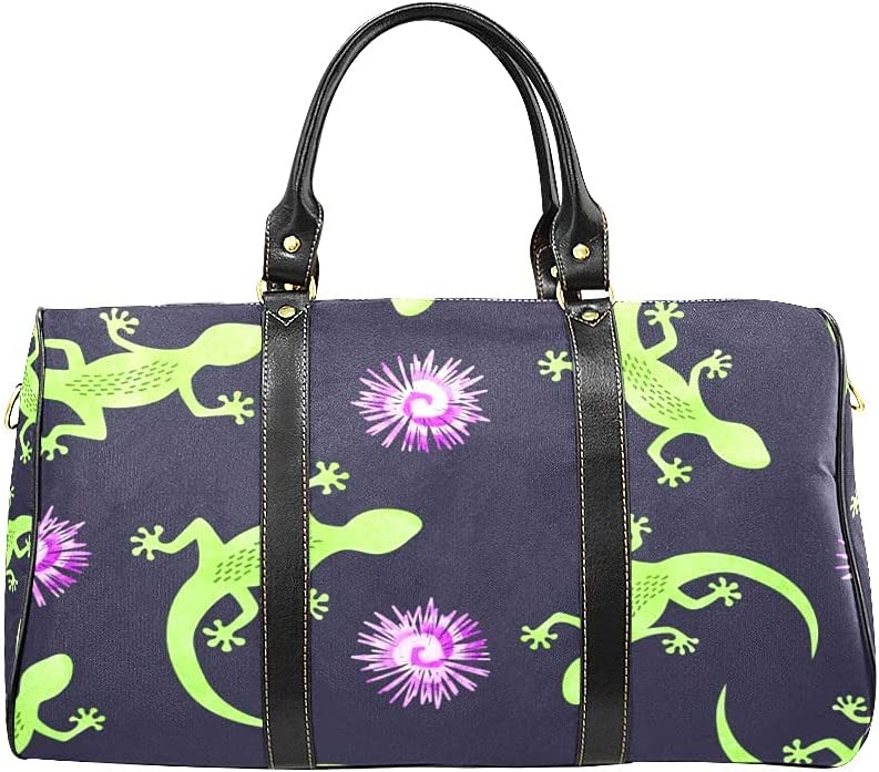 Unisex Travel Duffel Genuine Very popular Bag Lizards B Carry-on and Shoulder Flowers