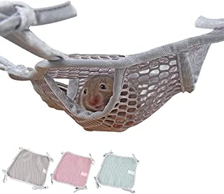 MYIDEA Small Pet Flexible Hammock for Guinea Pig/Hamster/Rats (L - Double Layer, Gray)