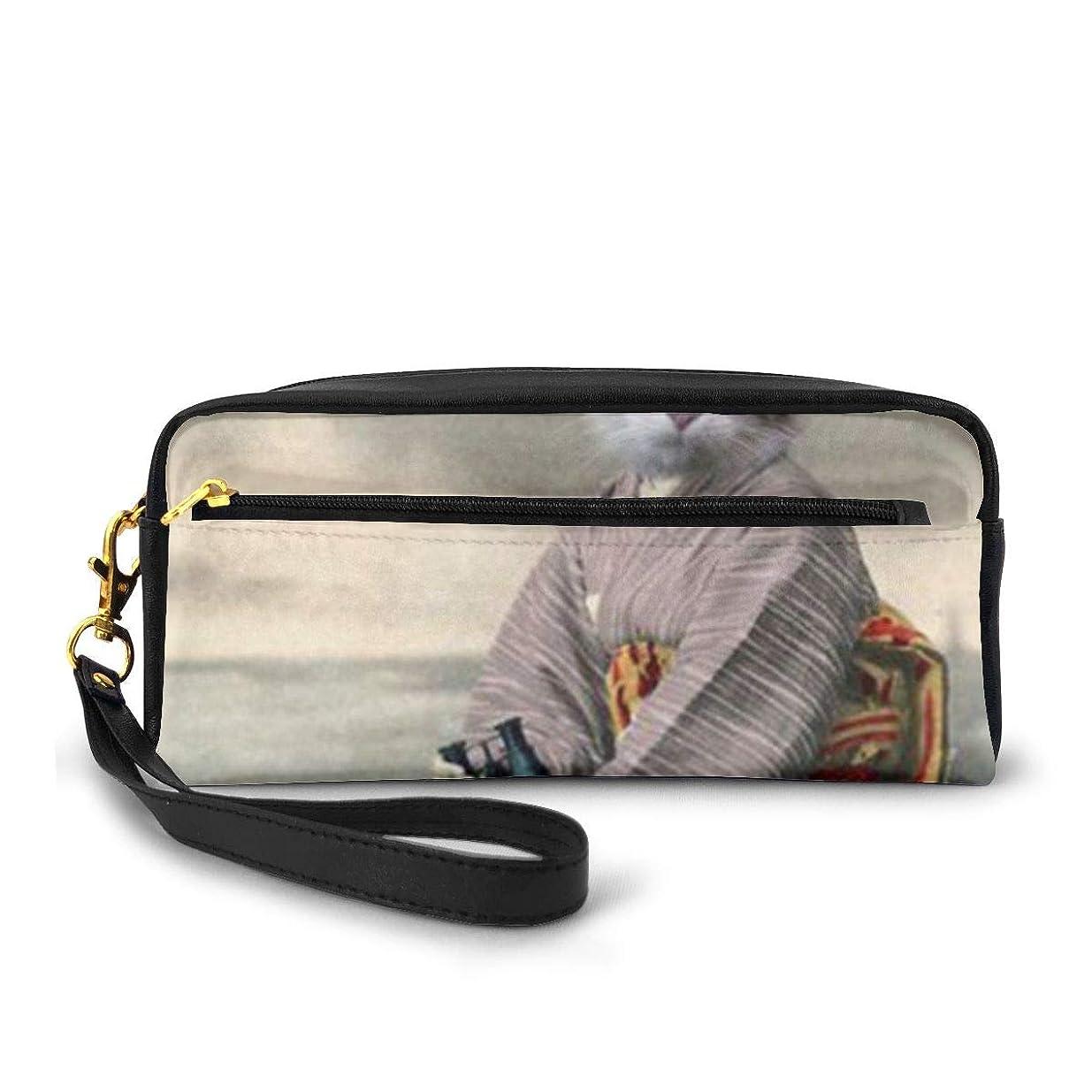 コンパイル帝国主義まろやかな日本人女性の猫 化粧品収納バッグ ウォッシュバッグ ハンドバッグ 化粧品袋 耐久性のある 筆箱 トラベルバッグ カラフルなス ポータブル スキンケア製品収納袋
