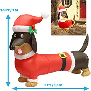 Best black dog christmas inflatable Reviews