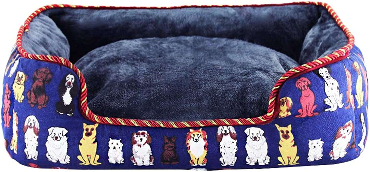 Four Seasons Universal Pet Nest Autumn And Winter All Removable And Washable Kennel Winter Warm WHLONG (Size   SMALL)