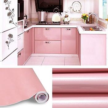 KINLO Aufkleber Küchenschränke rosa 8 Stk. 8x8cm (8㎡) aus PVC