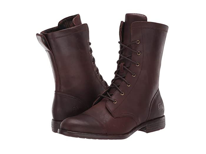 Steampunk Boots & Shoes, Heels & Flats Born Neon Dark Brown Full Grain Leather Womens Lace-up Boots $95.70 AT vintagedancer.com