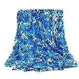 QI-CHE-YI Camuflaje Neto, sombrilla al Aire Libre campaña campaña Camuflaje Neto, sombrilla cochera jardín pabellón decoración del hogar,3x5m