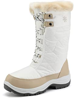 DREAM PAIRS Women`s Warm Faux Fur Lined Mid-Calf Winter Snow Boots