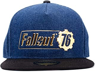 Difuzed Unisex_Adult Fallout 76 Logo Baseball Cap, Blue, One Size