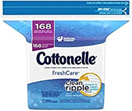 Cottonelle Fresh Care Flushable Moist Wipes Refill, 168ct (Pack of 2)