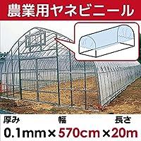 DAIM 【日本製】 屋根用ビニールハウス 厚み0.1㎜ 幅570cm 無滴透明 中接加工 (長さ20m)