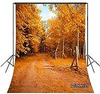 LB 背景布 1.5×2.1m/5x7ft 秋の風景 自然風景 森 写真撮影 バックペーパー 人物/商品撮影 背景シート 撮影スタジオ用 アイロンかけ可 折り畳み可 新婚撮影