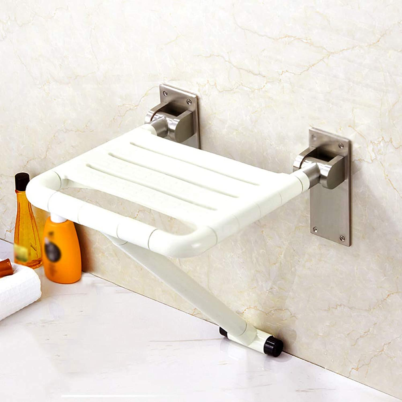 シャワーチェア用浴室安全浴室浴室ステンレス鋼折りたたみスツールシャワースツール古い折りたたみ風呂椅子バスルームベンチ35 * 42センチ