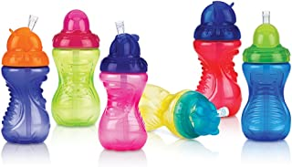 Nuby 2-Pack No-Spill Flip-It Cups, 10 Ounce, Colors May Vary