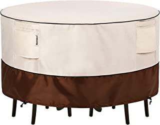 Bestalent Patio Furniture Covers Outdoor Round Table Furniture Set Cover Waterproof 62 Inch Diameter