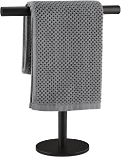 Lolypot Wieszak na ręczniki ze stali nierdzewnej 304, stojący czarny, drążek na ręczniki bez wiercenia, może być stosowany...