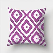 YJRIC Sofa kussensloop Paars geometrisch patroon decoratieve kussens kussensloop polyester kussenhoes sierkussen bankdecor...